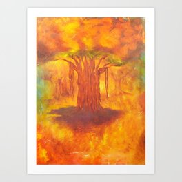 BANYAN FOREST - Life of Trees series Art Print