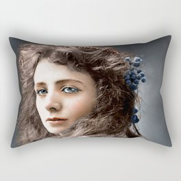 Maude Adams 1872-1953. From The Collection Most Beautiful Women Of The Late 19th And Early 20th C. Rectangular Pillow
