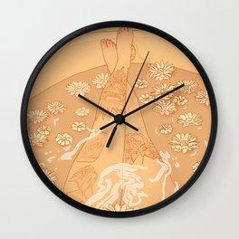 Flower Bath 10 (censored version) Wall Clock