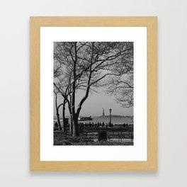 Fall in New York Framed Art Print