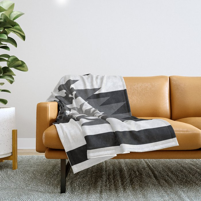 aztec black and white throw blanket by aztec society6. Black Bedroom Furniture Sets. Home Design Ideas