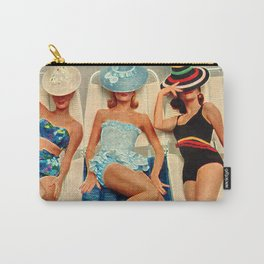 Retro Sunbathers Carry-All Pouch