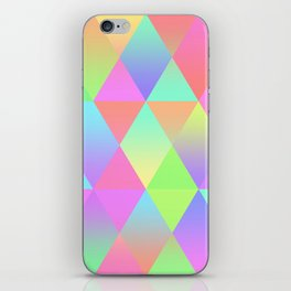 Colorful Geometric Pattern Prism Holographic Foil Triangle Texture iPhone Skin