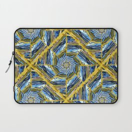 golden day kaleidoscope pattern Laptop Sleeve
