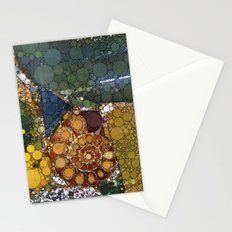 Granite Agate Quartz Snail Fossil Stationery Cards