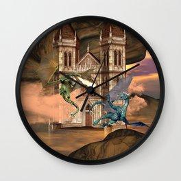 The dragon fight Wall Clock