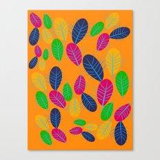 Fall Leaves Pop Pattern Design Canvas Print