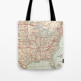 Vintage Map of The United States (1893) Tote Bag