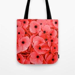 Veterans | Memorial Day | Remembrance Day | We Remember | Red Poppies | Nadia Bonello Tote Bag