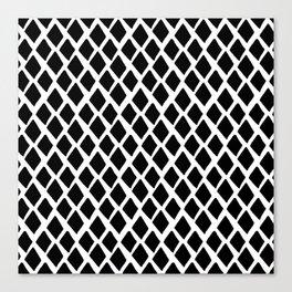Rhombus Black And White Canvas Print