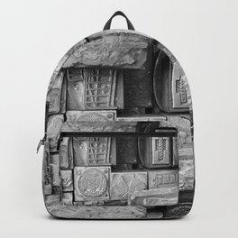 Black and White Vintage Backpack