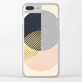Fashion pattern of circles with gold Clear iPhone Case