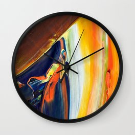 Abstraction - Colored chocolate - by LiliFlore Wall Clock