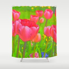 Pop Art Tulips Shower Curtain