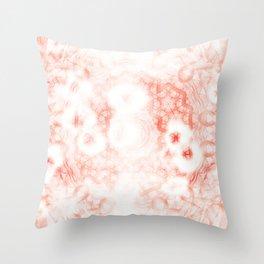 grunge peach pink mandala Throw Pillow