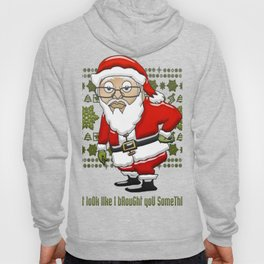 MoCKiNg SaNta Green Background Hoody