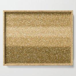 Glitter Glittery Copper Bronze Gold Serving Tray