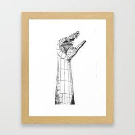 Planar Hand Framed Art Print