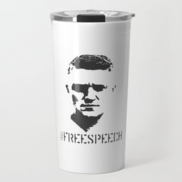 Hashtag Free Speech Free Tommy Britain Political Justice Travel Mug