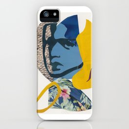 Abstract Collage Portrait of Girl Hawaiian Shirt iPhone Case