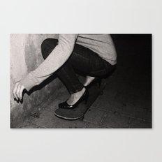 skateboarding girl Canvas Print