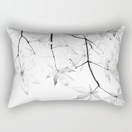 black and white maple leaves Rectangular Pillow