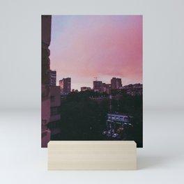 city sunset ii Mini Art Print
