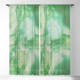 The Green Cross Sheer Curtain