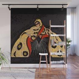 "Art Deco Illustration ""Masquerade"" Wall Mural"