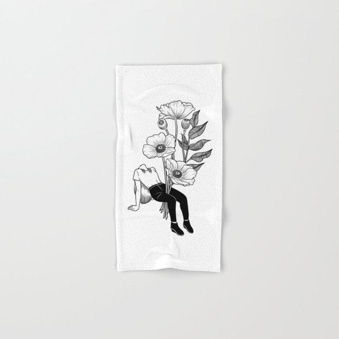 Let me bloom Hand & Bath Towel