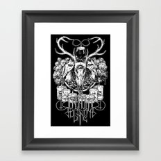 Unknown Panet ritual shirt blacked Framed Art Print