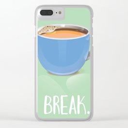 Tea Break Clear iPhone Case