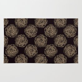 Pattern with roses 2 Rug