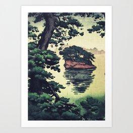 Autumn Rain in Yama Art Print