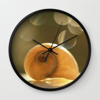 seashell Wall Clocks featuring Seashell... by Nature In Art...