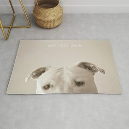 Pit bull love  Rug