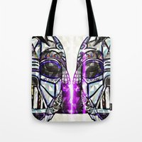 dark side Tote Bags featuring Dark Side by Just Bailey Designs .com