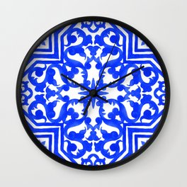 Portuguese azulejo tiles. Gorgeous patterns. Wall Clock