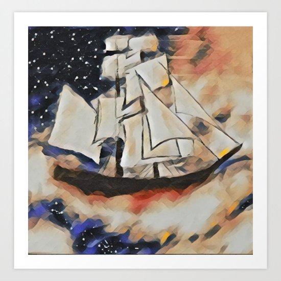 Sky Sailing Art Print