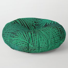 palm trees on a clear night Floor Pillow