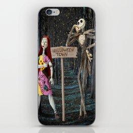 Halloween Town   Jack   Sally   Christmas   Nightmare iPhone Skin