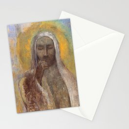 Christ In Silence  - Odilon Redon Stationery Cards