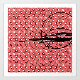 Teeth Scribble Art Print