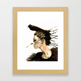 Crow Remix Framed Art Print