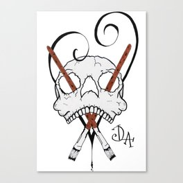 Dead Love Art Logo Canvas Print