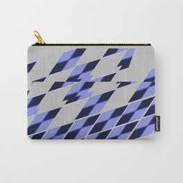 Blue Vibrate Plaid Carry-All Pouch