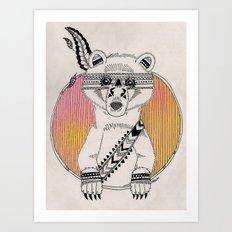 Indian Summer Bear Art Print