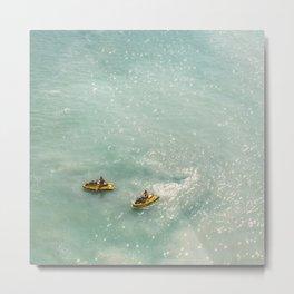 Jet Ski Friends in the Ocean | Paradise | Beach Mood | Aerial Photography | Ocean Print Metal Print