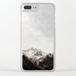 Scenic Mountain Photograph Grunge Weathered Look Clear iPhone Case