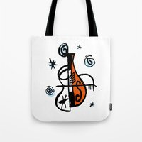 cello Tote Bags featuring Cello by Ewen Prigent